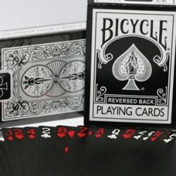Reversed Back Bicycle Deck - Black (Black Deck 2nd Generation)